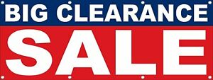 Big Clearance Sale Banner Retail Store Business Advertising Vinyl Banner Sign