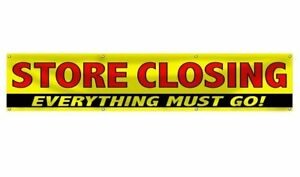 Wall26 Store Closing Everything Must Go Clearance Sale Banner Sign