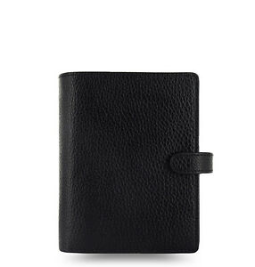 Filofax Pocket Finsbury Leather Organizer Black 025360 Just Arrived