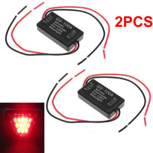 2x Flash Strobe Controller Box Flasher Module Fit Led Brake Stop Light Tail Lamp
