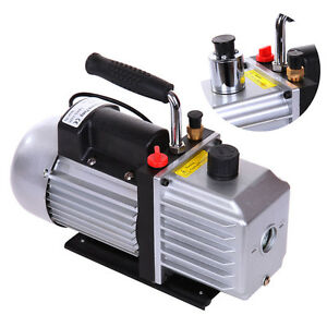 Single Stage Rotary Vane Deep 5cfm Vacuum Pump Hvac Tool For Refrigeration A c