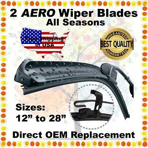 Aero 24 19 Premium Quality Summer Winter Bracketless Windshield Wiper Blades