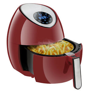 Rapid Air Fryer Electric Low fat Hot Steam Cooker Large Capacity W Lcd Display