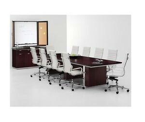 New Pimlico Mocha 8 Rectangular Conference boardroom meeting Office Table