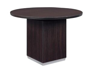 New Pimlico Mocha Modern 42 Round Conference meeting side Office Table