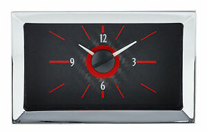 Vlc 57 Chevy Analog Clock Sil Blue Sil Red Cf Blue Cf Red