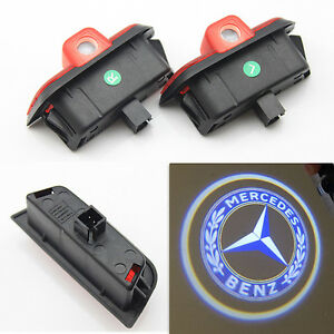 2x Ghost Led Door Step Courtesy Shadow Laser Light 4 Mercedes C Class W204 08 14