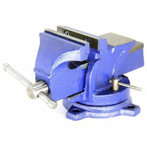 4 Mechanic Bench Vise Table Top Clamp Pres Locking Swivel Base Heavy Duty 12lbs