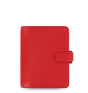 Filofax Pocket Size Saffiano Organizer Poppy Red 022471