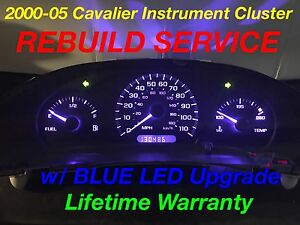 Repair Service 2003 Gm Chevy Cavalier Instrument Gauge Cluster Blue Led 03