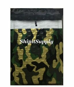 1 300 2 8 5x12 Camo Color Camouflage Poly Bubble Mailers Fast Shipping