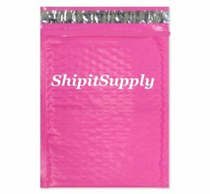 1 300 2 8 5x12 Pink Color Poly Bubble Mailers Fast Shipping