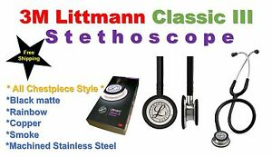 3m Littmann Classic Iii Stethoscope New 22 Colors 7 Years Warranty 22 Medical