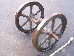 Old Fairbanks Morse 3hp Z Hit Miss Gas Engine Flywheels Crankshaft Magneto Steam