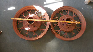Two Vintage Model A Ford Wire Wheels Was Told 1931