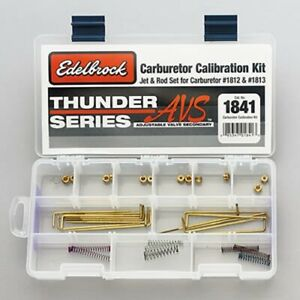 Edelbrock 1812 1813 Thunder Series Avs Carburetor Calibration Kit 1841