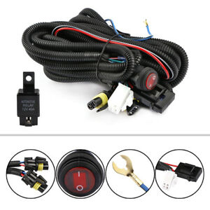 12v 30a Led Work Fog Light Bar Wiring Harness Relay Kit On Off Switch Off Road