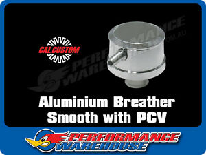 Polished Aluminium Push In Breather Cap With Pcv Smooth Finish Valve Cover