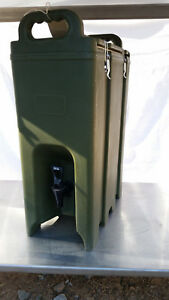 Cambro Liquid Dispenser 500lcd Army Green 5gal Insulated Cam tainer Beverage