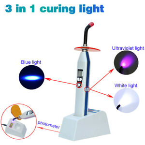 Dental 3 In 1 dual Color Wireless Led Curing Light Lamp With Light Meter 2000mw