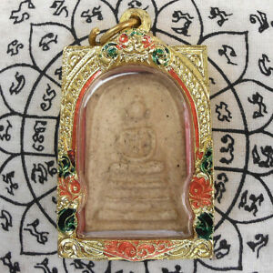 Powerful Holy Phra Somdej Thai Buddha Amulet Pendant Life Protect Talisman Lucky