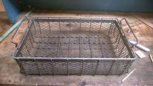 Steel Mesh Cleaning Parts Washer Basket 22 3 8 X 13 1 2 X 7 5 8 W Handles