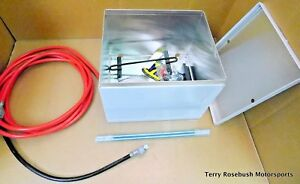 Taylor 48201 Aluminum Battery Box Kit 200 Series 2 gauge Cable Hold down Hwd