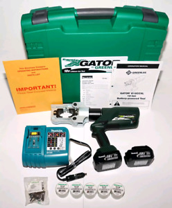 Crimper Greenlee Gator And Cutter E12ccxl12 12 Ton With 12 volt Charge