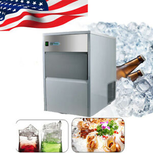 Professional Commercial Ice Maker Portable Ice Cube Machine Restaurant Bar usps
