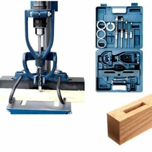 Cordless Drill Press Wood Chisel Set Machine Mortise Mortising Attachment Kit