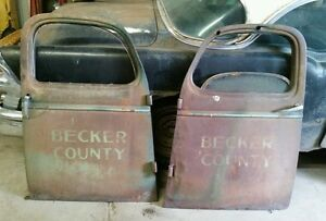 1940 s Chevy Dodge Ford Lh Rh Pickup Truck Doors Shipping Included