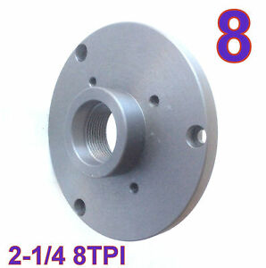1 Pc Back Plate For 8 Lathe Chuck W threaded 2 1 4 8tpi S
