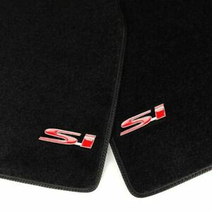Black Front Rear Carpets Floor Mats W 2 X 3d Si Emblems For 06 11 Civic 2 Door