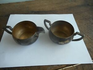 Vintage Taber Tibbits Silverplate Cream And Sugar T T 2615