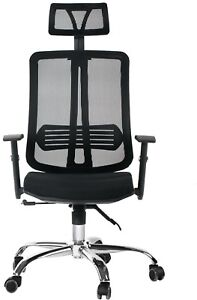 Cctro Mesh Ergonomic Office Chair With Adjustable Headrest And Armrest 360 For