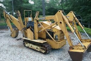 1992 Struck Magnatrac Hydro 5000 Trackhoe Front Loader 20 Hp