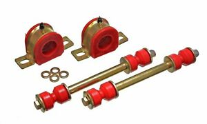 Energy Suspension 5 5125r Red Polyurethane Stabilizer Sway Bar Bushing Kit Front