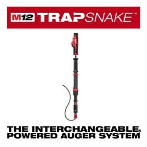 Milwaukee 2574 21 M12 Trap Snake 12 volt Lithium ion Cordless 4 Ft Urinal Auger