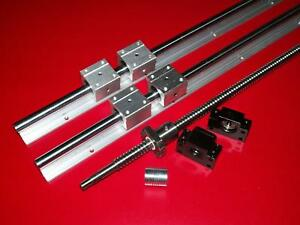 Sbr20 1000mm 2 Linear Rail ballscrew Rm2010 1000mm 1 Set Bk bf15 End Bearing Cnc