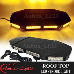 20 Led Warning Emergency Beacon Flash Tow Truck Response Strobe Light Bar Amber