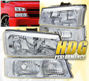 2003 2006 Chevy Silverado Avalanche 1500 2500 Hd Replacement Signal Head Light