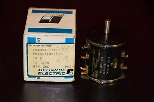 Reliance Electric 402388 11y Potentiometer 800 1858 10 K 10 Turn