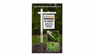 Vinyl Pvc Real Estate Sign Post