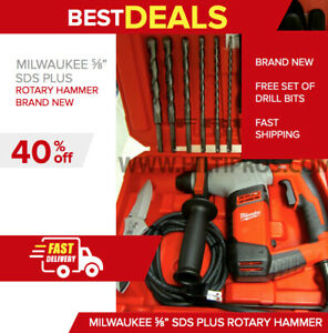 Milwaukee 5 8 Sds Plus Rotary Hammer Hilti Te 7 New Free Extras Fast Ship
