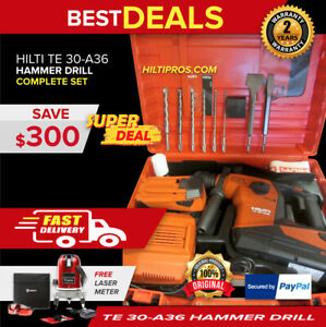 Hilti Te 30 a36 Atc Avr Cordless Combihammer Brand New Free Laser Meter