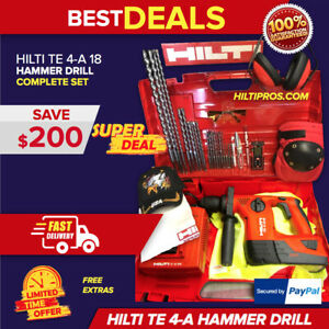 Hilti Te 4 a18 Cpc Cordless Hammer Drill Preowned Looks New Fast Shipping