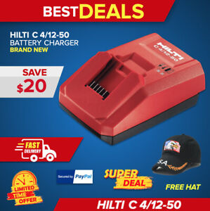 Hilti C 4 12 50 Charger Brand New In Heavy Duty Case Free Hat Fast Shipping