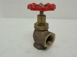 165266 Old stock United 126sul 3 4 Angle Valve Soft Disk 3 4 Fnpt Bronze