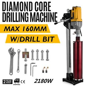 6 Diamond Core Drill Concrete Drilling Machine With Stand Drill Bits 2180w