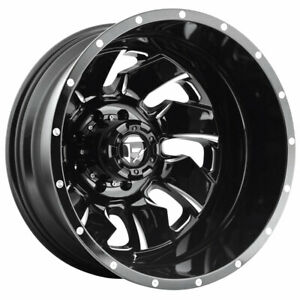 Fuel Cleaver Dually Rear D574 20x8 25 8x210 Et 195 Black Milled Qty Of 1
